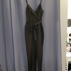 Olive green pants jumpsuit